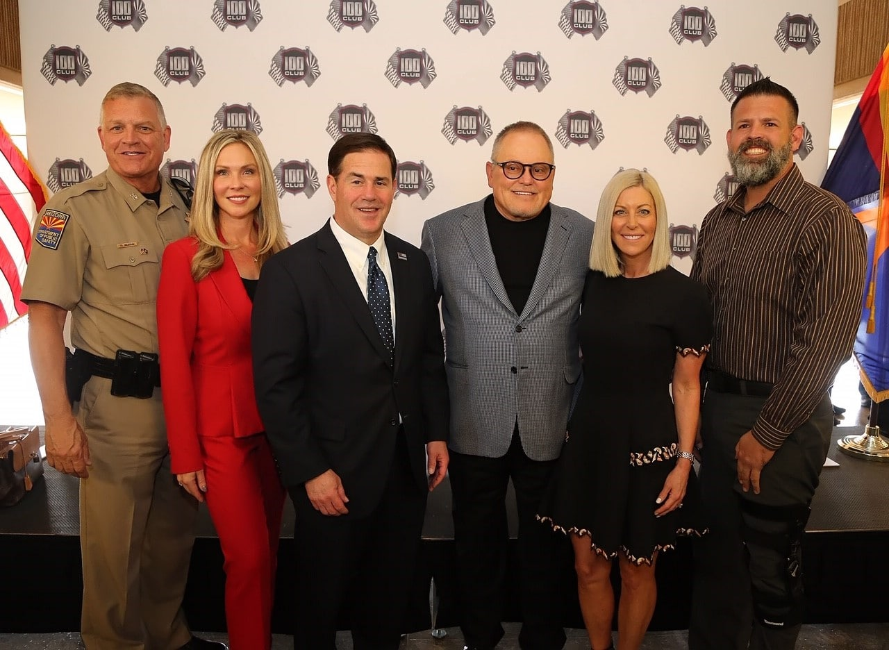 Governor Doug Ducey Announces a $3.6m Grant to The 100 Club of Arizona