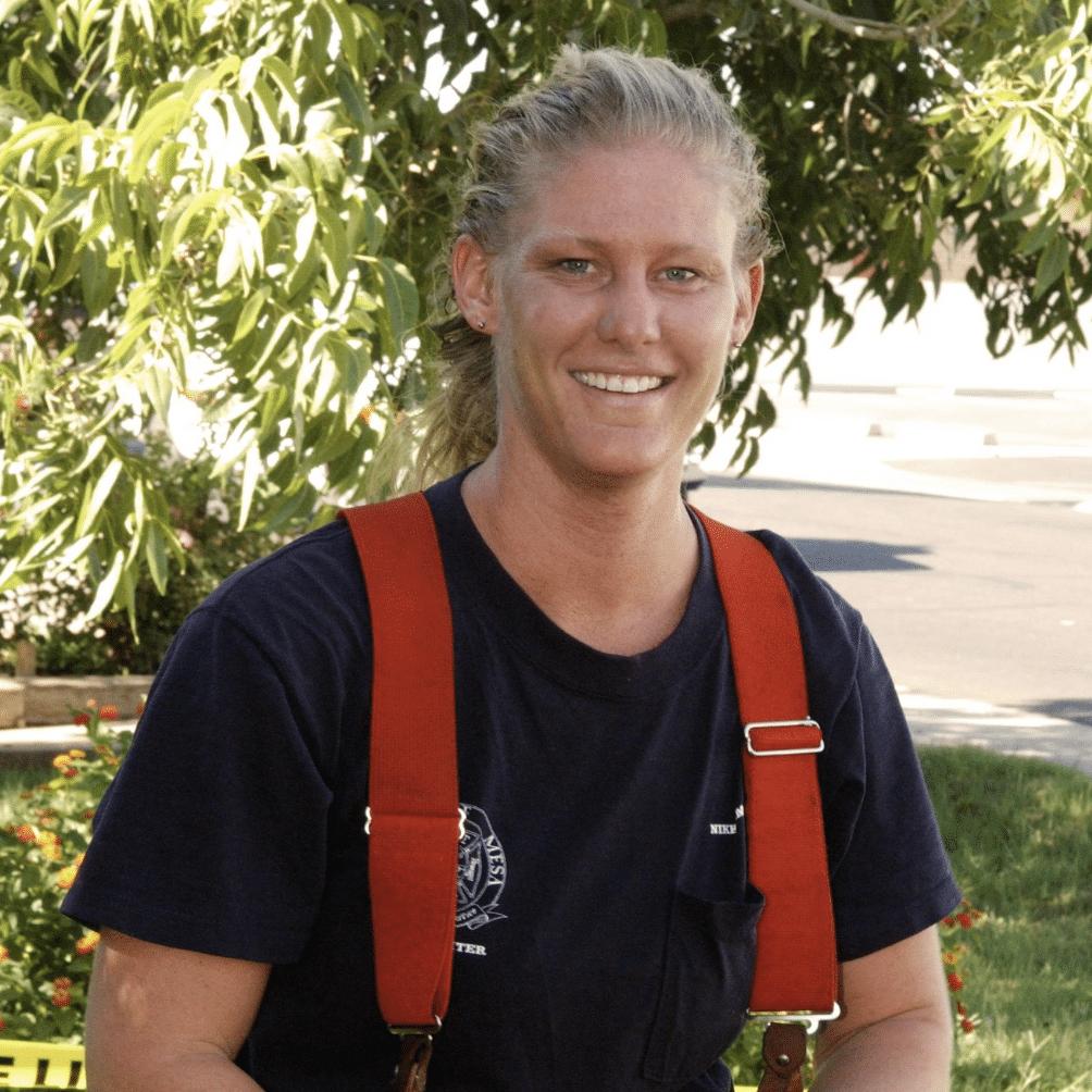 Firefigher Nikki Sullivan